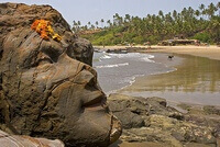 лицо Шивы, пляж Вагатор, Гоа