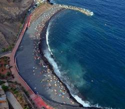 пляж ла-Неа, Тенерифе, чёрный пляж