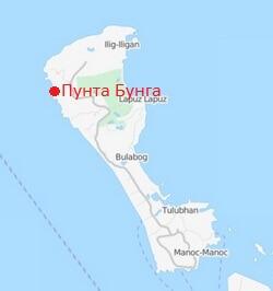 Plyazh-Punta-Bunga-beach-Borakajj-karta
