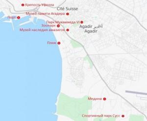 Karta-Agadira-s-dostoprimechatelnostyami-Marokko