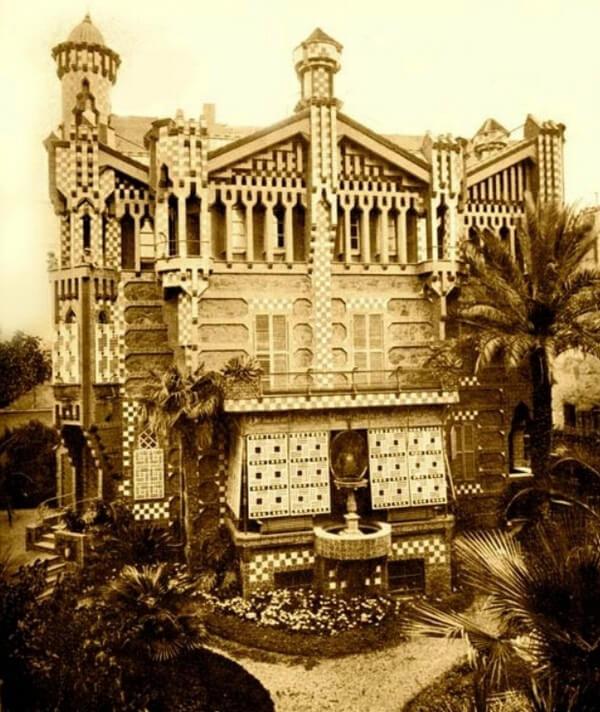 Передний фасад дома Висенса, Барселона