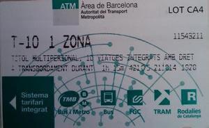Проездной Т10 в Барселоне