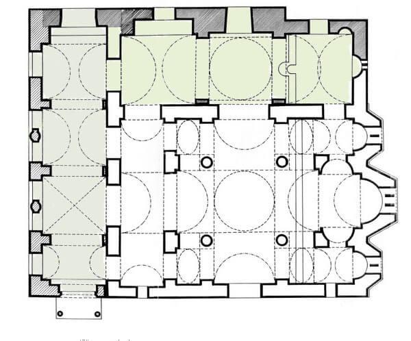 План церкви Богородицы Капникарея, достопримечательность Афин