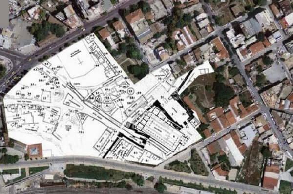 Современная карта Керамика, Афины