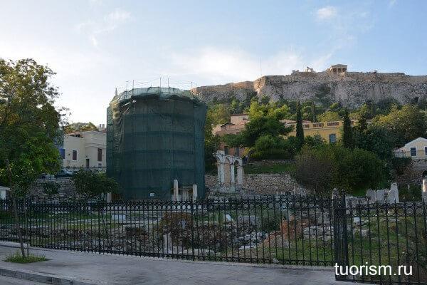 Башня ветров на Римской агоре, достопримечательность Афин
