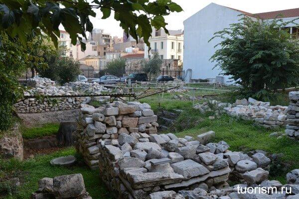 Закрытая часть Римской агоры
