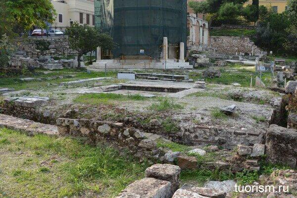 Туалет Веспасиана на римской агоре
