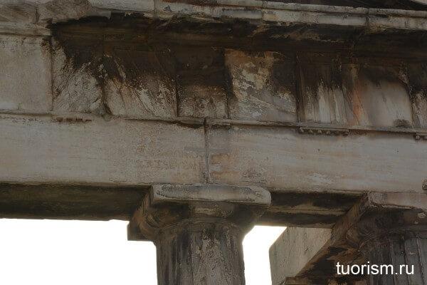 Надпись на воротах Афины Архигетис