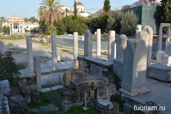 Восточная пропилея Римской агоры, eastern propylaea of Roman Agora