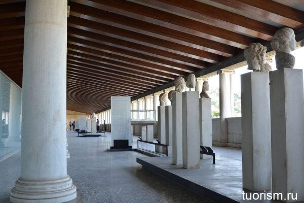 Второй этаж музея агоры, Афины