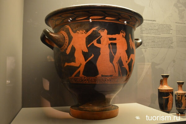 Краснофигурная виза, red figure pottery