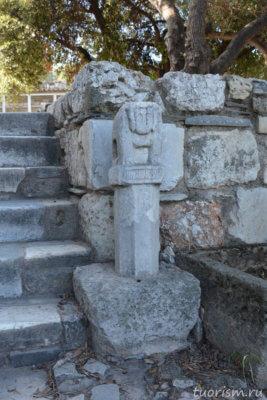 герма, столб, лестница, агора, афинская агора, Греция, наследие, искусство