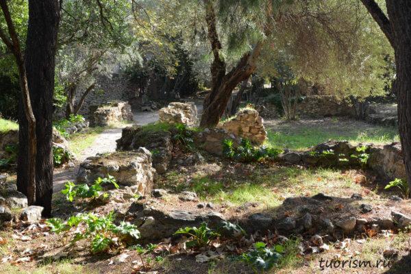 римские дома, руины, Греция, Афины, агора