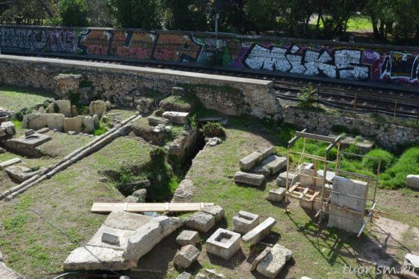 канализация, древнегреческая, античная, большой сток, водосток, big drain, Athens, ancient