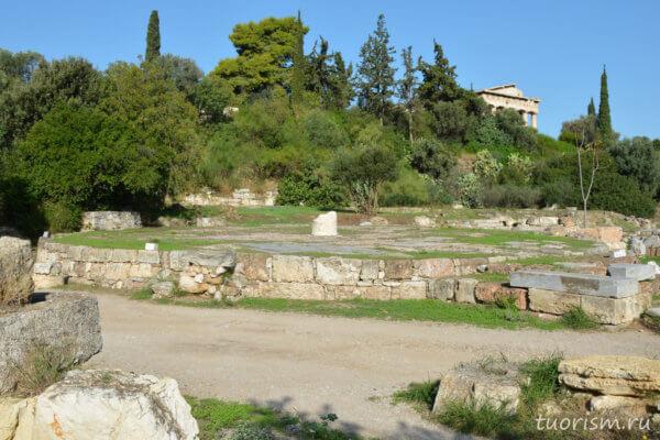толос, здание, круглое здание, античное здание, агора, афинская агора, Афины, theolos, agora, Athens