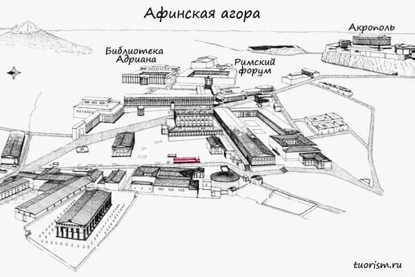 памятник, план, герои патроны, герои эпонимы, агора, Афины