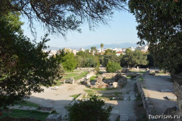 агора, афинская агора, руины, что посмотреть, Афины