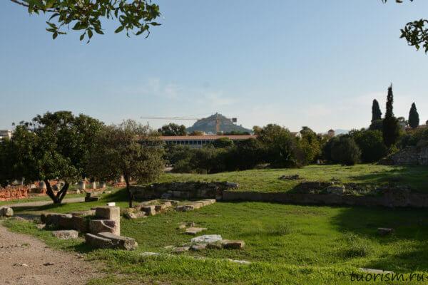 агора, Афины, дом-фонтан, руины, античная агора