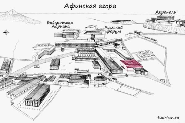 эакон, план, агора