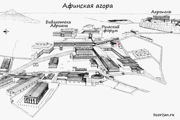 монетный двор, план, агора
