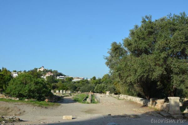 средняя стоа, агора, Афины, middle stoa, agora, Athens