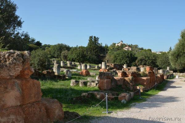 руины, античные руины, греческие руины, Афины, агора