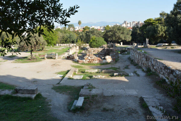 Восточное здание, агора, руины, афинская агора, Афины, East building, agora, Athens