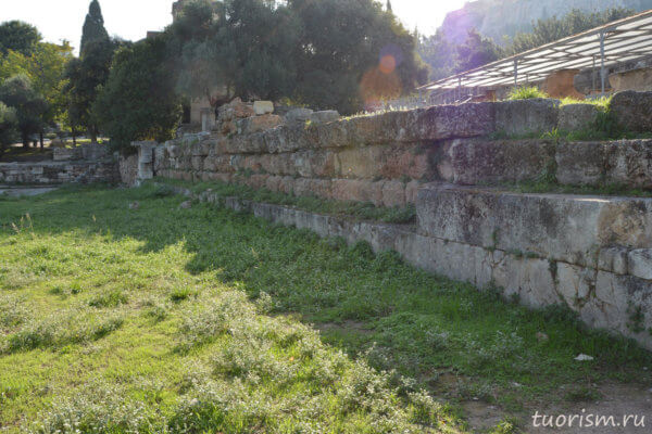 Южная стоа 2, афинская агора, Афины, руины, south stoa 2, athenian agora, ruins