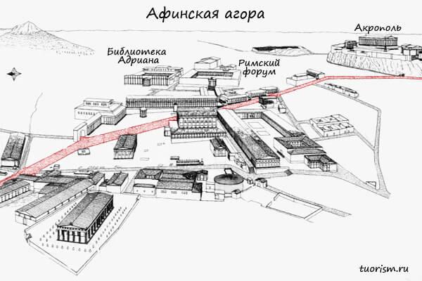 план, панафинейская дорога, агора