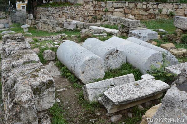 пропилеи, руины, колонны, торжественные ворота, вход, в город, Афины, Греция, стена Афин
