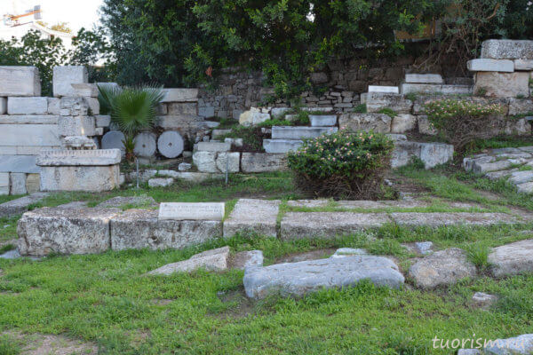 смотровая башня, оборонительная башня, руины, Греция, герулы, Афины, агора
