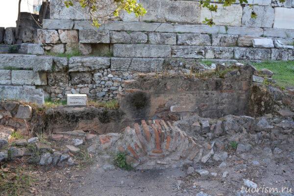 водяная мельница, руины, Греция, агора, Афины, река