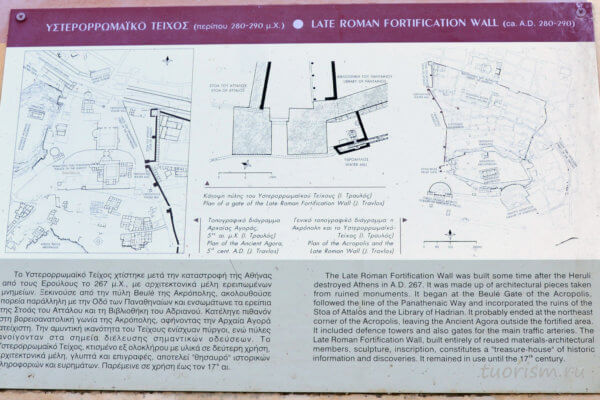 стена, Афины, план, агора, античность
