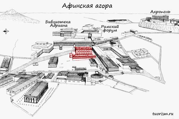 план агора, одеон Агриппа