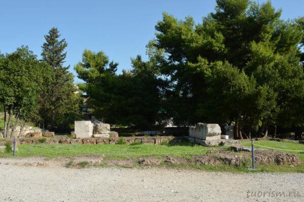 руины, храм Аполлона отца, афинская агора, Афины, temple of Apollo Fatherly, Athens, agora