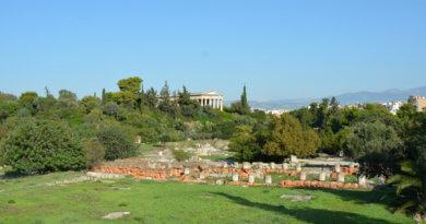 афинская агора, греческая агора, афины, центральный рынок, центральная площадь