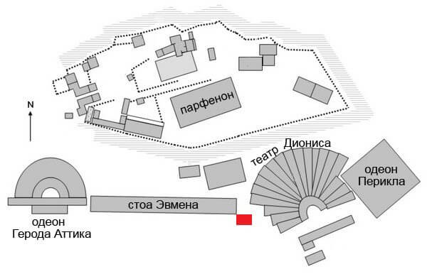 Хорегический монумент Никия в Акрополе
