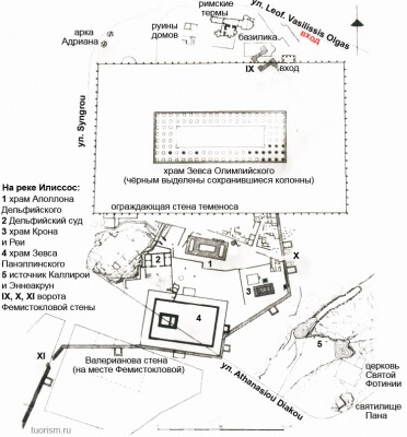 Карта храма Зевса Олимпийского