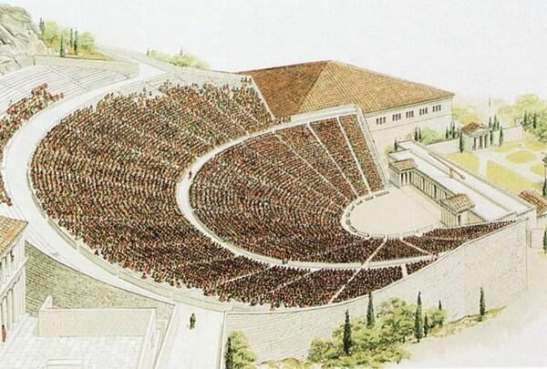 Театр Диониса, достопримечательности афин