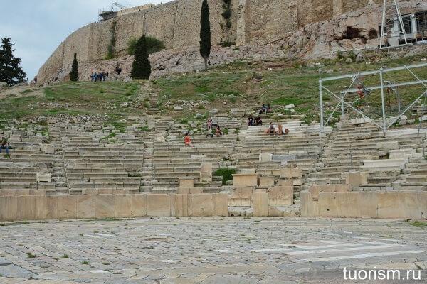 Театр Диониса, театрон, зрительный зал