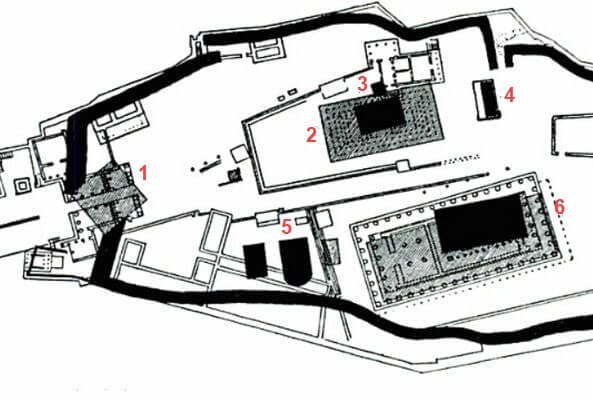 Храм Афины Полиады и Гекатомпедон на карте