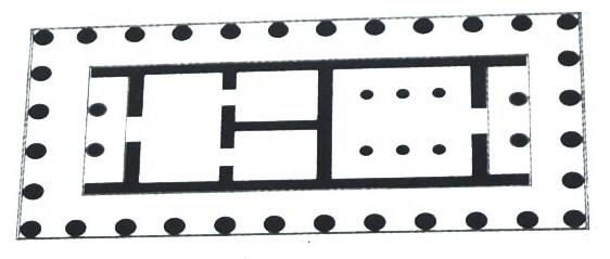 Схема храма Афины Полиады, Акрополь