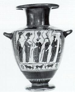 Эннеакрун, чёрнофигурная ваза