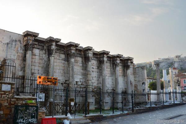 библиотека Адриана, Афины, достопримечательность, центр города, что посмотреть