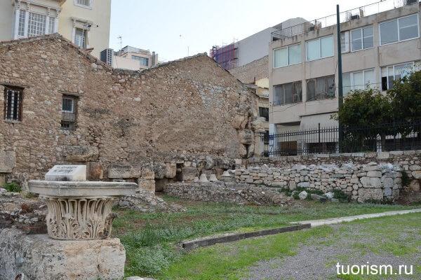 Лекционный зал, библиотека Адриана, Афины, что посмотреть, центр Афин, Hadrian's Library, Athens, lecture hall