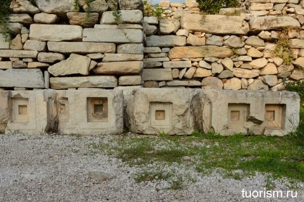 Кессонный потолок, Греция, античность, кессноы, каменные