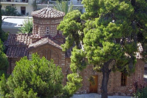 церковь архангелов, Петраки, монастырь Петраки, Афины, православная церковь, маленькая церковь, храм