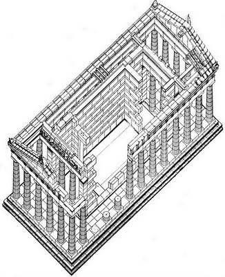 Храм Посейдона, сунион, реконструкция