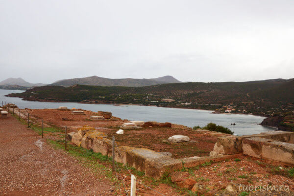 северная стоа, стоа, руины, мыс Сунион, греческое поселение, археология, античный город