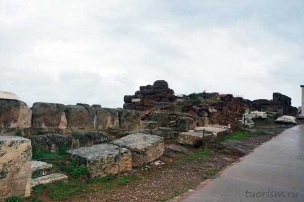 стена, бастион, руины, поселение, Сунион, греческое поселение, античный город, мыс Сунион, охранное сооружение
